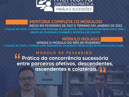 INSCRIÇÕES PARA A MENTORIA ABREM NO DIA 16 DE JANEIRO
