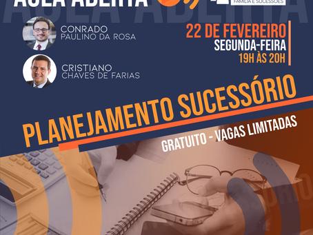 AULA ABERTA DA MENTORIA ONLINE: PLANEJAMENTO SUCESSÓRIO