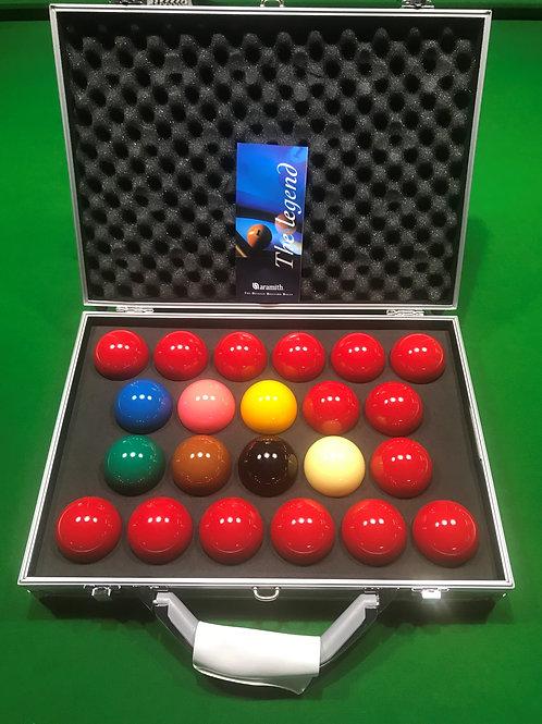 ARAMITH 2 1/16 Belgium Tournament Champion SuperPro 1G Snooker Set