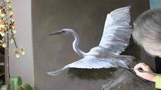 Paint Great Egret in Oil