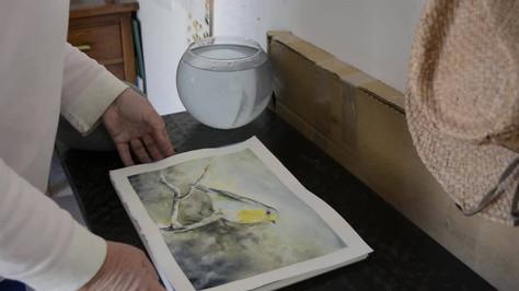 Flatten Your Watercolor Paper