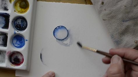Paint a Waterdrop in Watercolor