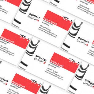 Format design Business cards