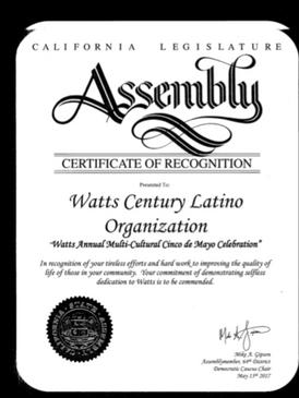 Ceritficate of Recogniton for WACELO