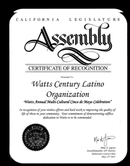 Ceritficate of Recogniton for WACELO