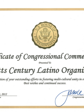 Certificate of Congressional Commendation for WACELO