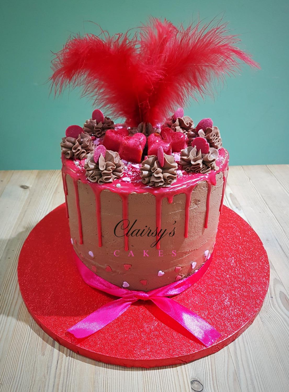 Heart drip cake 7inch