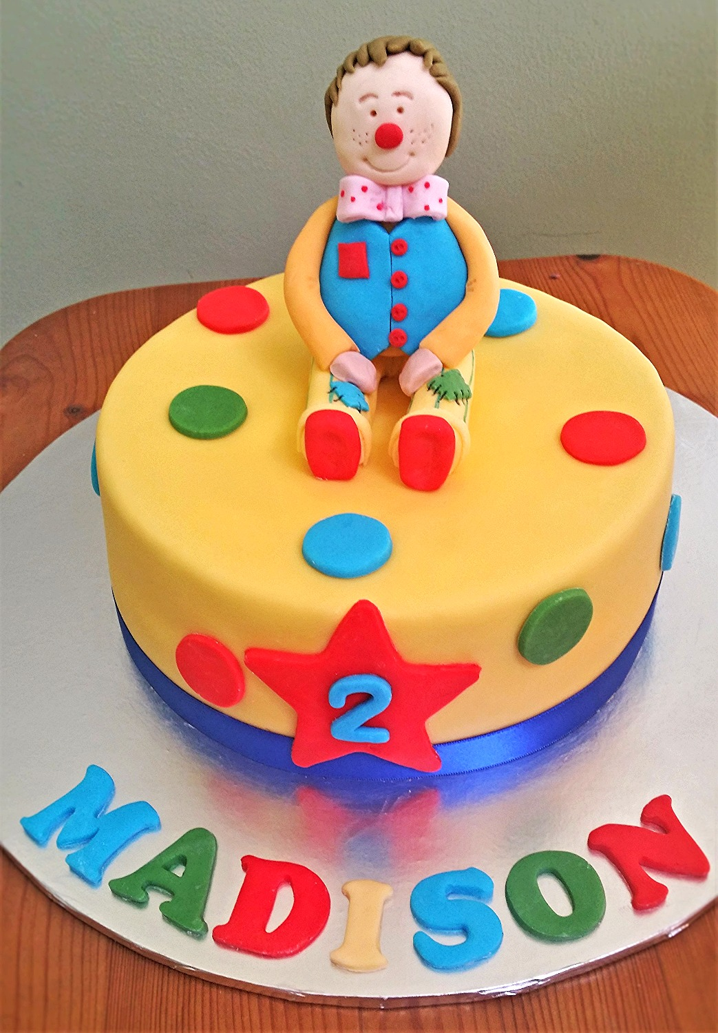 2nd birthday clown cake