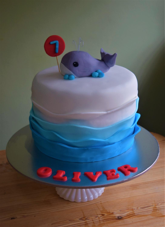 Whale wave cake