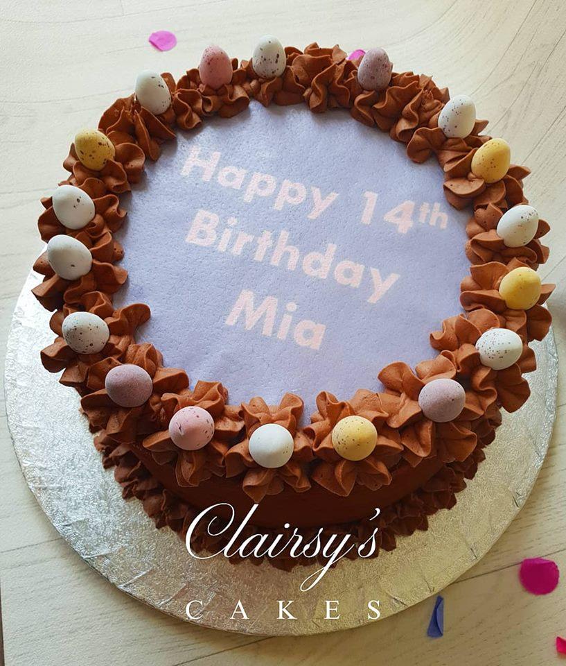 Mini eggs cake