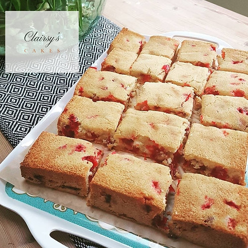 Cranberry and Almond Tray bake