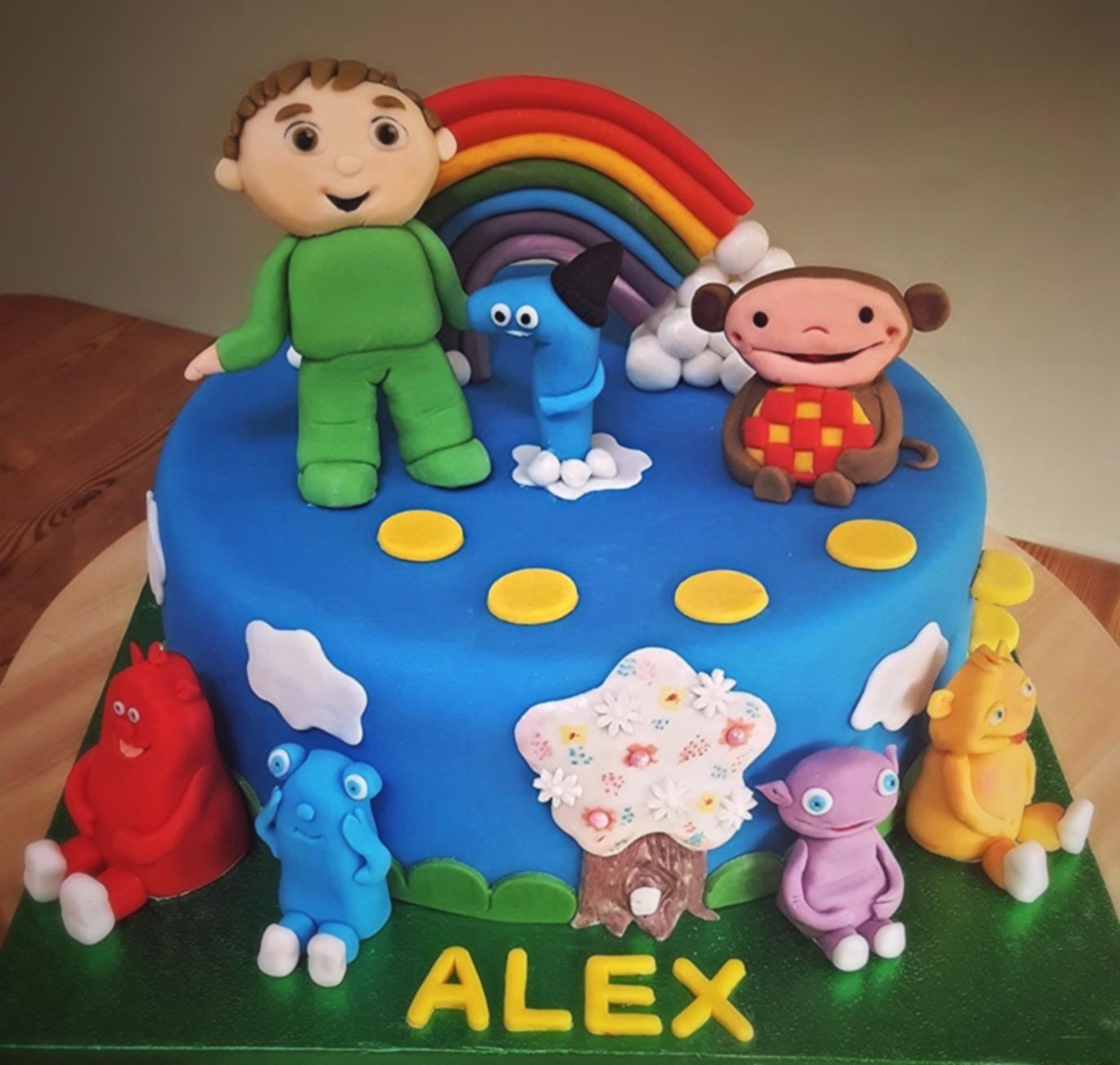 1st birthday character cake