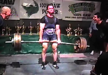 2000 RAW Powerlifting Championships Master's  198 lb Champion
