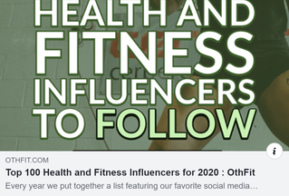 TOP 100 HEALTH AND FITNESS INFLUENCERS FOR 2020