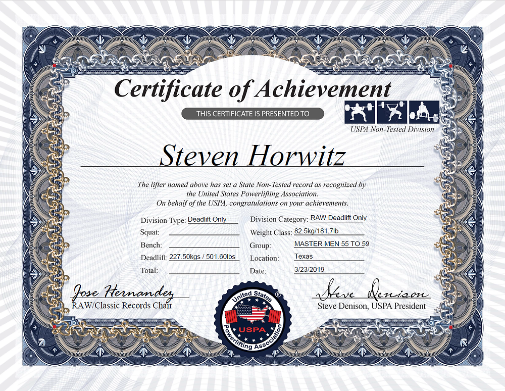 USPA Texas Deadlift Record