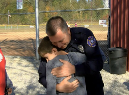 Youth baseball player reunites with firefighter who saved his life
