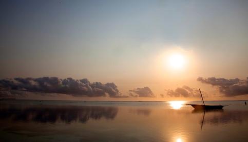 Sunrise over lagoon