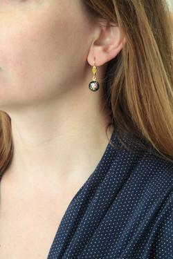 Black Rose Earring