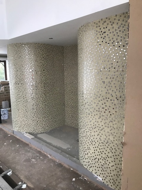 Spa shower at Pinewood development.
