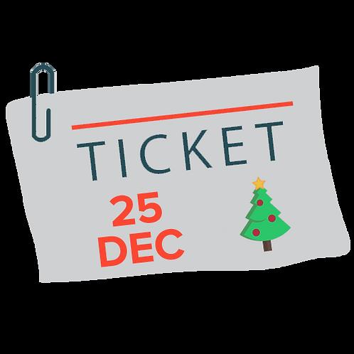 Christmas Ticket - 25 December 2015