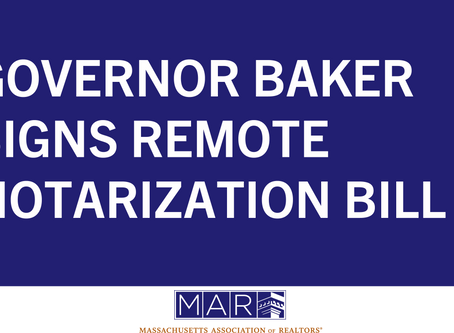 Governor Baker Signs Remote Notarization Bill