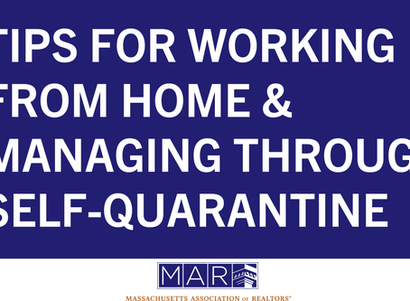 Tips for Working from Home & Managing Through Self-Quarantine