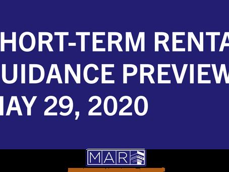 Short-Term Rental Guidance Preview