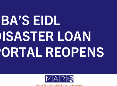 SBA's EIDL Disaster Loan Portal Reopens