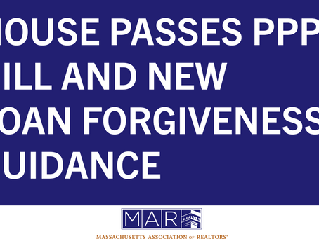 House Passes PPP Bill and New Loan Forgiveness Guidance