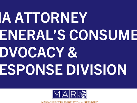 Resource for Realtors®: MA Attorney General's Consumer Advocacy & Response Division