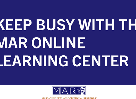 Keep Busy with the MAR Online Learning Center