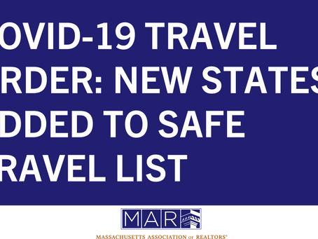 COVID-19 Travel Order: New States Added to Safe Travel List