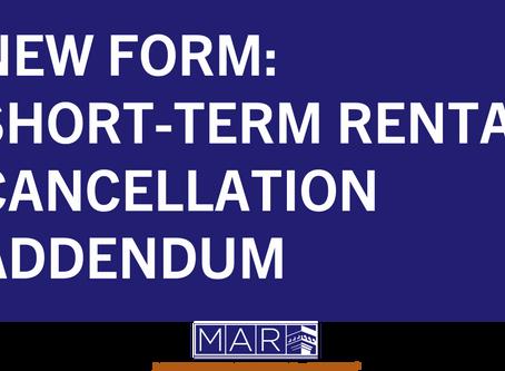 New Form: Short-Term Rental Cancellation Addendum
