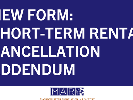 New Form: Short-Term Rental Cancellation Addendum