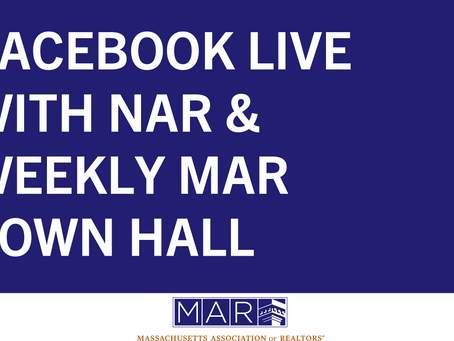 Facebook Live with NAR & Weekly MAR Town Hall