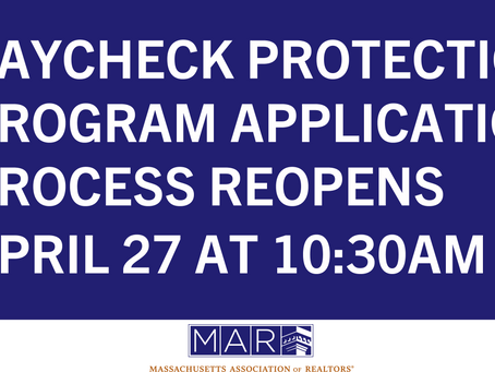 The Paycheck Protection Program (PPP) Application Process Reopens on April 27 at 10:30AM