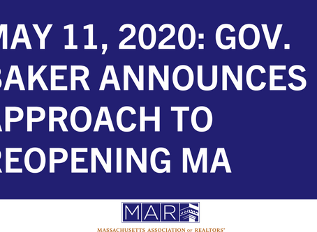 Gov. Baker Announces Approach to Reopening MA