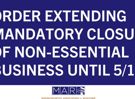 Mandatory Closure of Non-Essential Businesses and Short-Term Rental Extended Until May 18