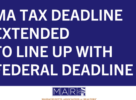 MA Tax Deadline Extended to Line Up With Federal Deadline