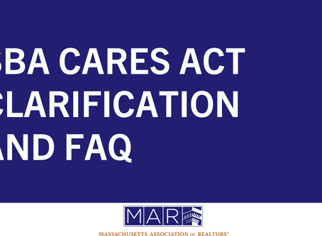 SBA CARES Act Clarification and FAQ