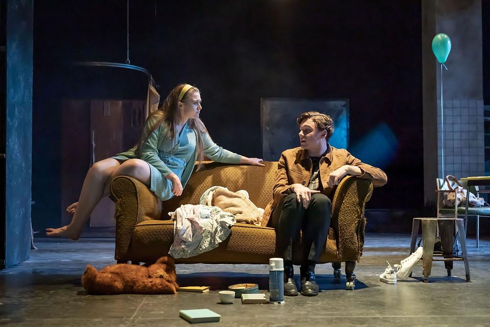 A Taste of Honey - Gemma Dobson as Jo and Stuart Thompson as Geoffrey -- Credit Marc Brenner