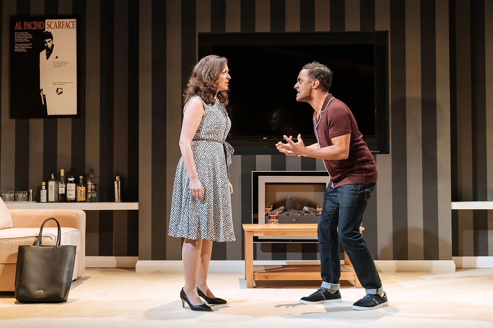 The Argument - Sarah Earnshaw as Jane and Esh Alladi as Tony - Photo credit Manuel Harlan
