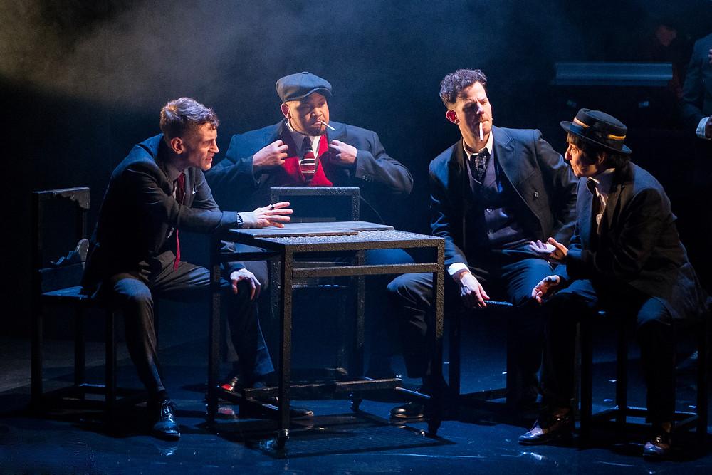 Brighton Rock 2018 Jacob James Beswick as Pinkie, Dorian Simpson as Dallow, Marc Graham as Cubitt and Angela Bain as Spicer