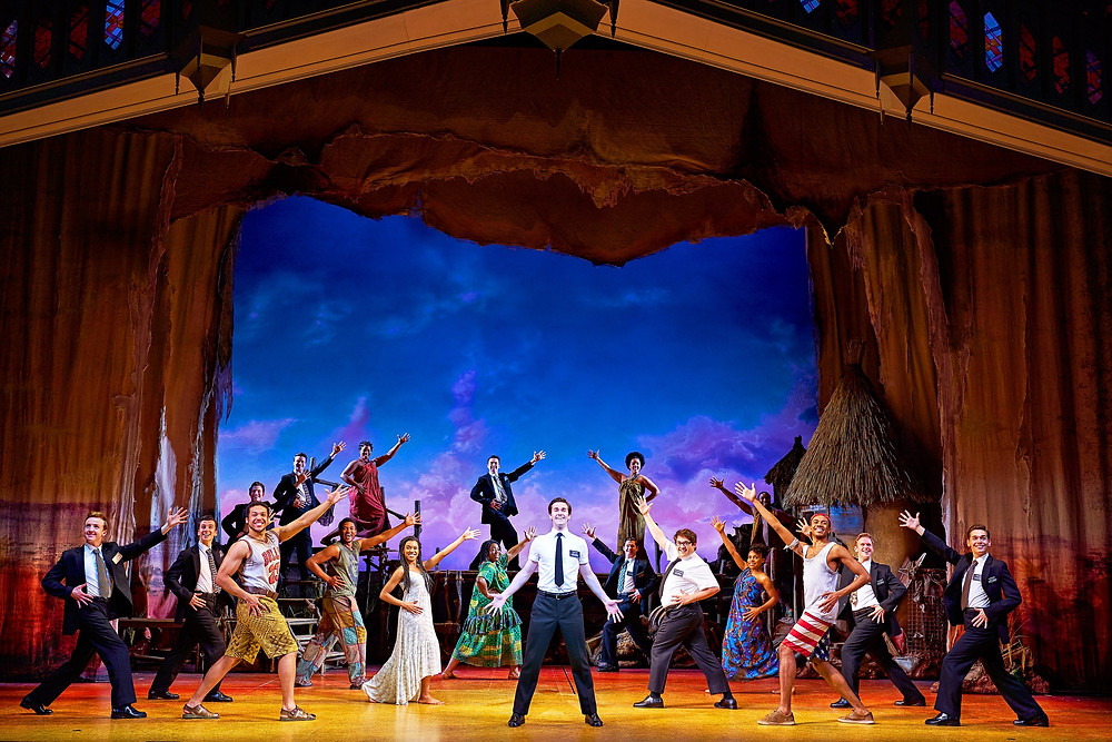 15 The company of The Book of Mormon Credit Paul Coltas