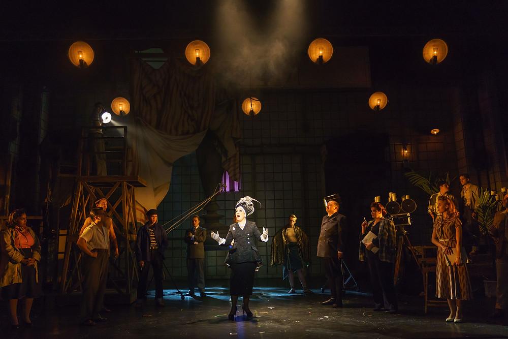 SUNSET BOULEVARD. Ria Jones 'Norma Desmond' and Company. Photo Manuel Harlan