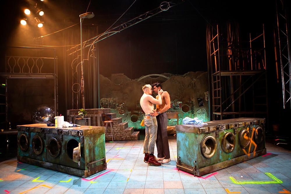 Jonny Fines as Johnny and Omar Malik as Omar_ My Beautiful Laundrette_Photography by Ellie Kurttz_2