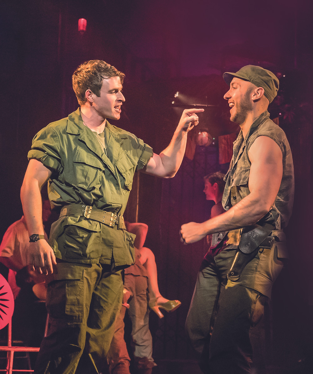 MISS SAIGON. Ashley Gilmour 'Chris' and Ryan O'Gorman 'John'. Photo Johan Persson.jpg