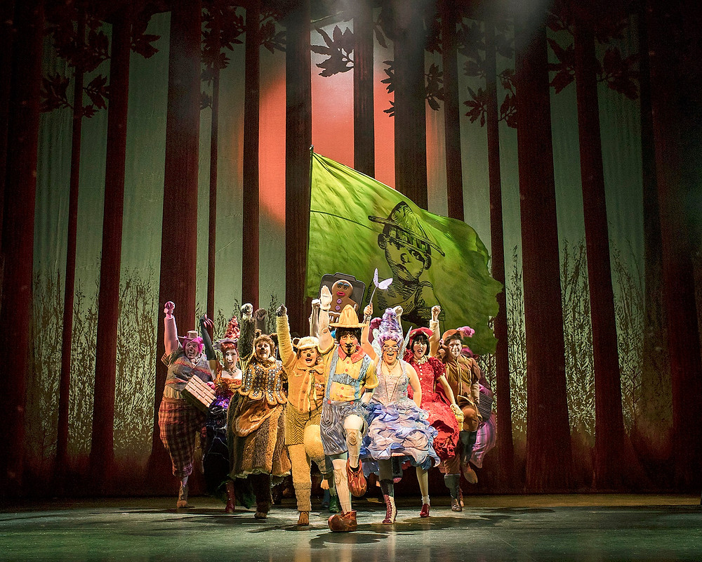 The Fairytale cast. Shrek the Musical UK and Ireland tour 2018. Credit Helen Maybanks