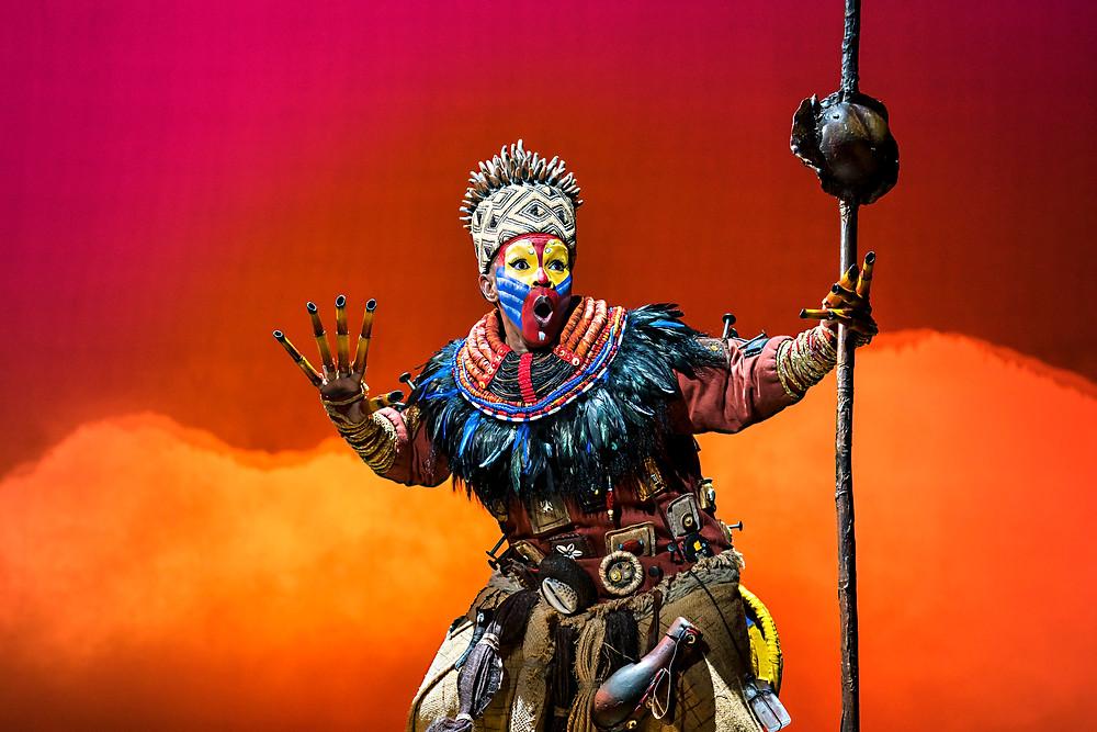 Thandazile Soni (Rafiki) in Disney's The Lion King UK & Ireland tour -® Disney