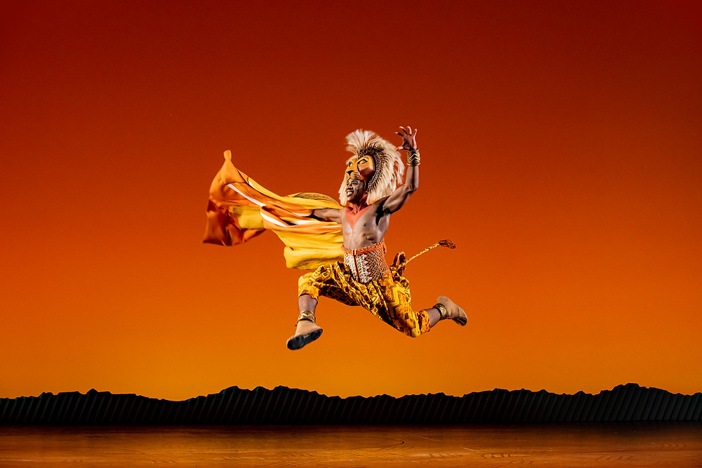 Dashaun Young (Simba) in Disney's The Lion King UK & Ireland tour -® Disney